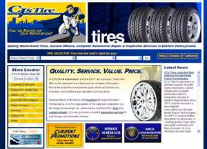 CJ s Tires Launches New Website through Media Fusion Technologies