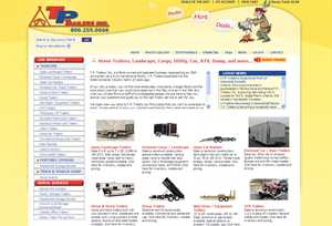 T.P. TRAILERS MAKES SHOPPING FOR TRAILERS EASY WITH NEW HI TECH WEBSITE